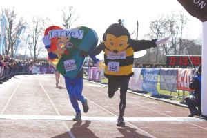 Inverness Half Marathon - Bobby the Bee & Harvey the Heart